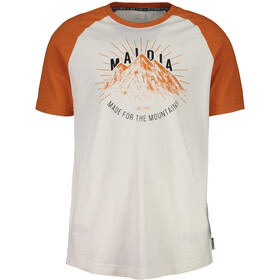 Maloja PiazzetM. Maglietta a maniche corte Uomo arancione/bianco